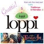 Loppi fyller 5 år & bjuder på bio!