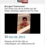 Tilda laddade upp på Youtube