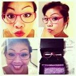 Mina nya röda glasögon från Smarteyes!