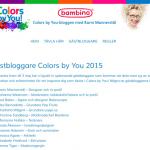 Jag är gästbloggare Colors by You 2015 (Bambino)