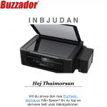 Buzzador inbjudan #epson #skrivare