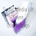 Goodiebags från Social Media Lift event