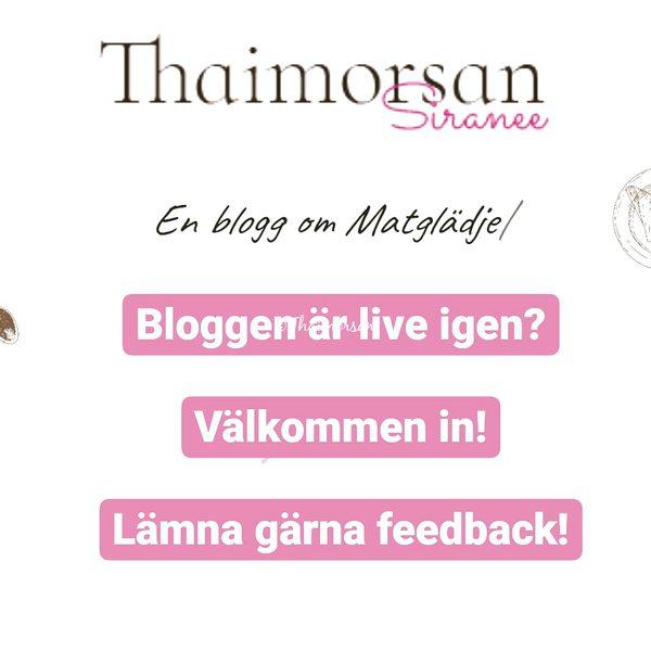 Bloggen är live igen och snyggare!